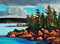 Nicholas Bott, artist, original oil paintings at White Rock Gallery Seascape Paintings, Landscape Paintings, Oil Paintings, Waterfall Paintings, Canadian Painters, Canadian Artists, Stone Painting, Painting Trees, Beginner Painting