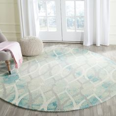 Castries Hand-Tufted Green/Ivory/Gray Area Rug | Wayfair