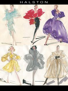 Halston Sketches  No one sketched Halston's clothes better than Joe Eula!