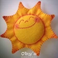 Risultati immagini per sole in feltro