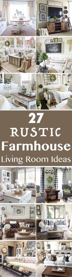 Farmhouse style is so cozy, perfect for families as it creates a wonderful atmosphere. Here are 27 beautiful farmhouse living room ideas to decorate your home.  #farmhouselife #farmhouselivingroom #farmhousestyle
