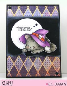 Stamping Still: Witch Kitty