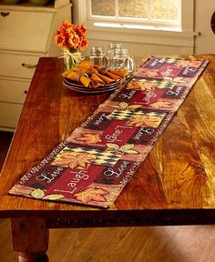 Tapestry Autumn Leaves Country Kitchen Collection Rug Runner Place Mats Chair Pads