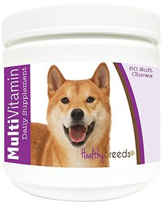Healthy Breeds MultiVitamin Soft Chews  Shiba Inu   60 Count -- You can find more details by visiting the image link.(This is an Amazon affiliate link and I receive a commission for the sales)