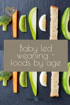 The best foods for baby led weaning - Cynthia V. de Aliphas - The best foods for baby led weaning A huge list of what finger foods to give your baby when, according to their age. An essential guide for parents - Baby Led Weaning First Foods, Baby First Foods, Baby Finger Foods, Baby Lef Weaning, Baby Led Weaning Recipes 6 Months, Finger Foods For Toddlers, Baby Led Weaning Breakfast, Baby Breakfast, Fingerfood Baby