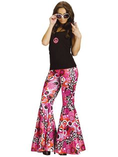 ***YES*** PANTS ONLY! Check out Flower Child Bell Bottoms Costume - 60s Costumes from Costume Discounters