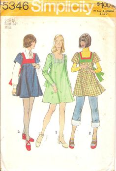 Vintage  Sewing Pattern 1970s Dress Jumper Tunic by TenderLane, $8.00 I know someone who remembers these patterns!