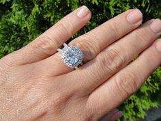 Engagement Rings : 3.50ct David Yurman ispired ring 2.50 H vs2 GIA center