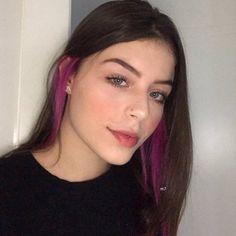 eyes Aren't struggle to check out hair salons and spas Hair Color Streaks, Hair Color Purple, Hair Dye Colors, Hair Highlights, Hidden Hair Color, Hair Color Underneath, Peekaboo Hair, Aesthetic Hair, Dye My Hair