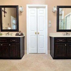 Separate vanities in master bath