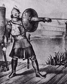 """The Russian """"tarch"""" is a curious weapon that incorporats on a metal gauntlet a shield and other spiky components. It was used between the 14th to 17th centuries in Russia. There are very few information about the """"tarch"""", but is concludent to say that this was a special kind of shelom (shield)."""