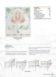 Stenciled Flowers Tissue Box 2/2