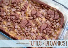 These Turtle Brownies are out-of-this-world good!! Caramel, chocolate, nuts...you can't beat this combination! Best of all, they're quick and easy to make!