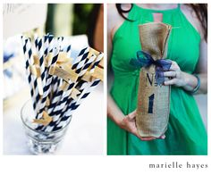 Three Little Words - stirer straws, fun table numbers