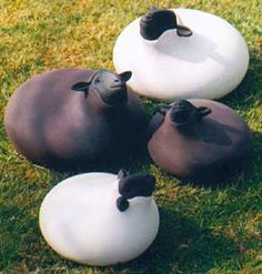 sheep - tom smither  I would like to make something like these for our garden.