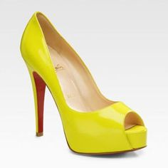 these cute yellow Louboutin pumps is faaaancy! looove em'. All love to Louboutin.