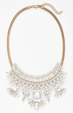 Free shipping and returns on Natasha Couture 'Deco Mammerjammer' Necklace at Nordstrom.com. Glittery crystals light up an Art Deco-inspired necklace that adds an instant upgrade to just about any outfit.
