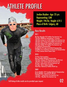 Athlete Profile Page For Jordan Bryden Professional Triathlete Sponsorship Package Designed By Redlime Marketings Shirley Blundell