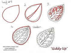 How to draw Paisley Leaf 09 Giddy Up by Quaddles-Roost.deviantart.com on @deviantART
