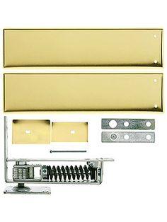 Standard Duty Swinging Door Floor Hinge With Plated-Steel Cover Plates   House of Antique Hardware