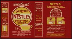 Nestle's - EverReady Sweet Milk Cocoa box package label proof - 1930's-1950's | Flickr - Photo Sharing!