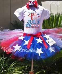 68c5d05b408c of july tutu set Red White Blue Flag Dress Petti Personalized
