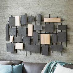 Hammered Metal + Wood Wall Art #westelm