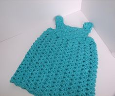 Such a cute dress!  This is for the 3-6 month size.  Larger sizes are available for this free pattern.