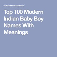 Modern indian baby boy names with y