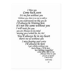 I Miss You Text in Half of Heart Postcard Zazzle com is part of Miss you text - Shop I Miss You Text in Half of Heart Postcard created by LovesMe LovesMeNot Personalize it with photos & text or purchase as is! Cute Love Quotes, Soulmate Love Quotes, Romantic Love Quotes, Love Yourself Quotes, Love Quotes For Him, Mom Quotes, True Quotes, Change Quotes, Missing Someone Quotes