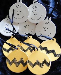DIY Charlie Brown Christmas Ornaments the link for this was to an etsy listing that is no longer working.  But i think we could pick the medium of our choice and make them from the picture.