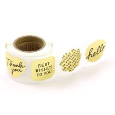 Roll of Stickers - Gold Metallic Message - 180 Pack from Bookbinders Online