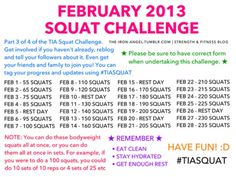 February Squat Challenge. Let's workout!