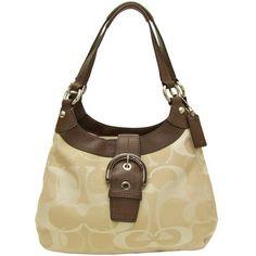 Authentic Coach Handbag/purse Soho Textured Opt Light Khaki Hobo F17396