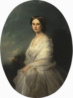 1857 Countess Sofia Andreievna Bobrinskaia, née Countess Shouvalova by Franz Xavier Winterhalter (Hermitage)