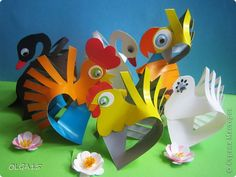 Мастер-класс Бумагопластика Бумажные птички Бумага фото 1 - gurigami - site has detailed pictures on how to make all of these paper birds Paper Animal Crafts, Paper Animals, Bird Crafts, Fun Crafts, Paper Crafts, Spring Crafts For Kids, Art For Kids, Apple Clip Art, Craft Activities For Toddlers