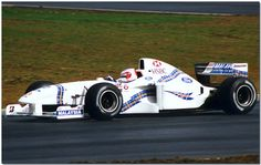The 1997 Stewart Ford SF01 Grand Prix car of Rubens Barrichello. Jackie Stewart's F1 team took a podium in its first year, although a lot more success was to follow as the team is now known as a certain Red Bull Racing.