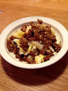 ゴマとポン酢で和えてます。 - 2件のもぐもぐ - カリカリ豚と白菜サラダ by shiinakurumi