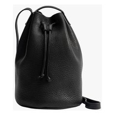 Baggu Drawstring Purse ($140) ❤ liked on Polyvore featuring bags, handbags, shoulder bags, caramel, leather shoulder bag, leather cross body purse, leather crossbody handbags, leather hand bags and purse crossbody