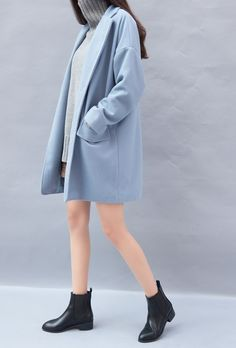 Soft blue coat | @shopspine