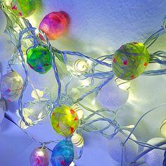 My stuff// DIY - lightstring - paper maché - Silk paper balls - skidtogkanel