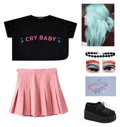 """""""Crybaby - Melanie Martinez"""" by charlotte-ox ❤ liked on Polyvore featuring Demonia"""