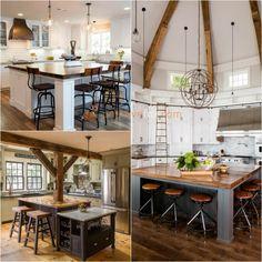 Square Kitchen Island. Kitchen Island Ideas. Explore more Kitchen Island Ideas on https://positivefox.com #kitchenisland #kitchenideas #kitcheninteriordesign #squarekitchenisland