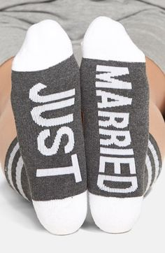 Arthur George by R. Kardashian 'Just Married' Crew Socks available at #Nordstrom