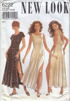 Open Back Dress Sewing Pattern Thigh High Side by HoneymoonBus