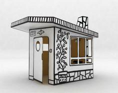 cardboard kids house