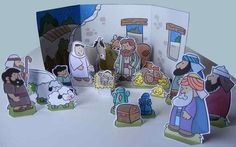 """Created by French designer Didier, from My Little House website,  here is more one nice  Nativity Scene  for our collection. This """"Jesus Is..."""