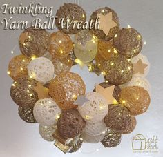 Twinkling+Yarn+Ball+Wreath
