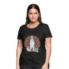 Geschenke Shop   Yoga Meditation Hamsa - Frauen Premium T-Shirt Hamsa, Yoga Meditation, T Shirts, Position, Ajouter, Mens Tops, Women, Design, Fashion