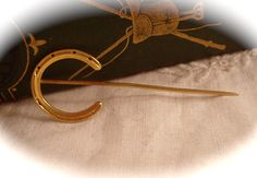 Antique Victorian 14k GOLD STICK PIN Lucky Horse Shoe 14k Yellow Gold Stick Pin Estate Find on Etsy, $129.00